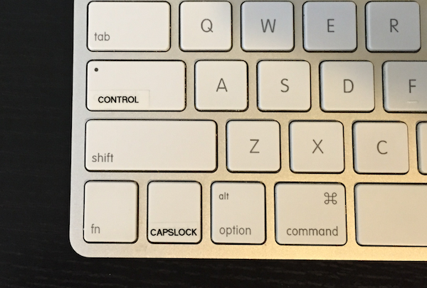 Apple Keyboard labeled